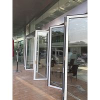 Aluminum Interior Bi Folding Door With Lowes Tempered Glass For Sale