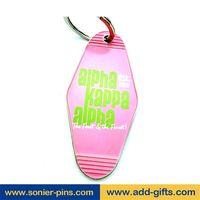 sonier-pins custom soft enamel keychain with ring