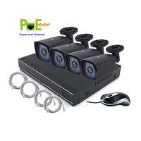 HD 720p CMOS Sensor POE 4 Cameras Security System Kit thumbnail image