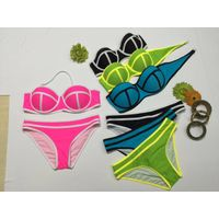 Brand New Ladies Bikini Hot Selling Worldwide Bandeau Top Fashion Swimweaer Bold Color New Arrival D