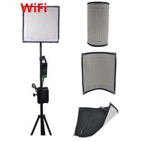 videGo LED WiFi Flex Video Light film light Broadcast Light Video Flood Light Shooting Kits Bi-Color