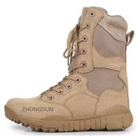 leather upper rubber sole military boot ZD202