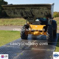 481/2 inch HDPE black temporary road mat / plastic trackway