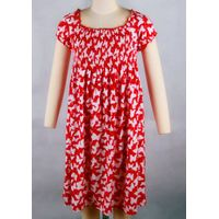 Childrens fashion long sleeve round collar dress with printing