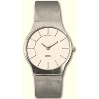 2 layer dial slim Men Watch with mesh band and Japan movement