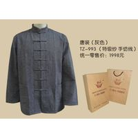 Tranditional chinese clothing-Tang suits(gery) thumbnail image