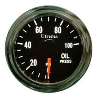 Utrema Auto Oil Pressure Gauge Illuminated 52mm