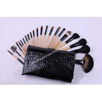 21-piece Professional Cosmetic/Makeup Brush Set, Hair:Goat,sable,raccoon and nylon hair, Wood Handle