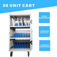 """Y630B, AC Charging Cart for Chromebook/Laptop/Macbook/Surface Pro/Ipad up to 14"""", 30 slots thumbnail image"""