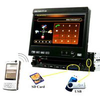 All-in-one 7 inch one din car dvd Touch ScreenTV/Radio/USB/Double SD SLOT/7 colors LCD choice/Dual Z thumbnail image