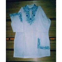 Sell Blue Embroidery on Cotton Fabric Kurtis thumbnail image