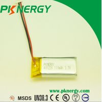 Rechargeable Batteries 401230 110mAh 3.7V lithium polymer battery for bluetooth headset thumbnail image