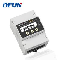 DFUN DFPM93 Energy Meter 3P4W Three Phase LCD Display Meter Energy with RS485