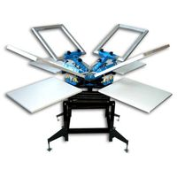 4 color 4 station screen printing machine