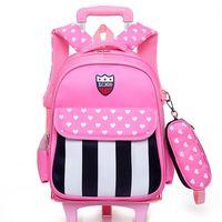 Trolley School Bag, Wheeled Trolley Backpack, Kids' Bookbag with Wheels thumbnail image