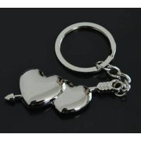Metal Human Heart Shape Keyring Heart And Arrow Couple Keychain