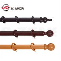 Hot sale bay window wooden curtain pole