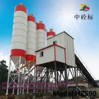 HZS90 concrete batching plant and used batching plant for sale