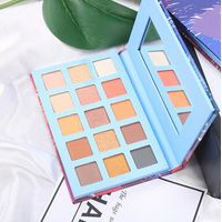 15color eyeshadow with magnetic disk for cardboard gift box