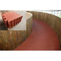 Interlocking Rubber Floor, Interlocking Rubber Gym Floor, Fitness Center Floor thumbnail image
