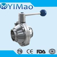 ss304 316 Sanitary Stainless Steel butterfly type Ball Valve