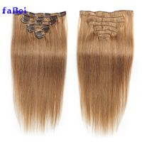 Best selling Brazilian human hair No Tangle No Shedding Clip In Remy Human Hair Extension thumbnail image