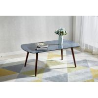 Walnut painting Beech Wood Legs Marble Effect Coffee Table