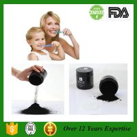 Activated charcoal powder teeth whitening powder