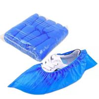 Blue Disposable CPE Shoecover PE Shoe Covers Dispenser