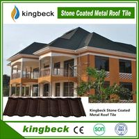 Kingbeck Stone Coatd Metal Roof Tile/ Stone Chips Coated Steel Roof Tile