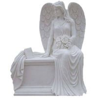white granite angel headstones