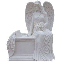 white granite angel headstones