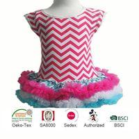 Wholesale Chevron Latest Party Wear, Dresses for Girls, Fashion Kid Wears