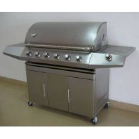 stainless steel bbq gas grill with 6 burners thumbnail image