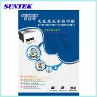 T06 A4 Water Transfer Clear Papel White Laser Paper
