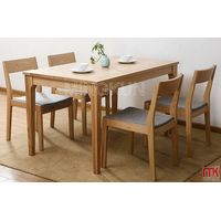 solid wood oak dining table with chair sets