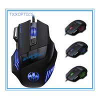 Glowing 7d Wired 7 Breathing Lights Gaming Mouse 5500 DPI thumbnail image
