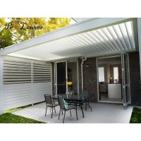 Pergola motorized sun louver,waterproof louver,open roof louver