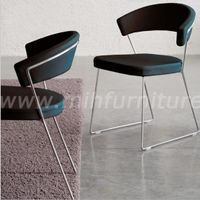 Modern Simple Style PU Leather Lounge Cafe Chair