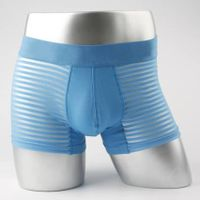 High quality cotton mesh line men's boxer underwear with Polyamide
