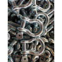European type large D shackle, Rigging hardware,Galvanized