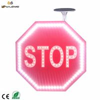 stop go led solar reflective material board speed construction aluminum trafficroad sign