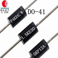 Free Samples 400W 6.8V Do-41 Case TVS Chip Rectifier Diode P4KE6.8A/CA