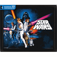 Star Wars Movie Poster Lenticular Printing 3D Effect