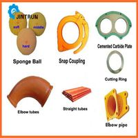 High quality concrete pump accessories/cleaning balls/pipes/hoses thumbnail image