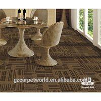Stock lot carpet tiles , PVC backing waterproof carpet tiles for office, home, auditorium