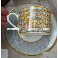 Fine bone china coffee cup and saucer Ceramic tea cup and saucer