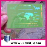 Anti-counterfeit pvc card adhesive gravure label/security hologram sticker thumbnail image