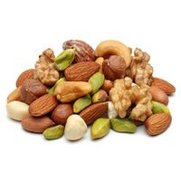 Almond nuts, Brazil nuts, Cashew nuts, Chestnut, Macadamia nuts,Pecan nuts,  Pine nuts, Pistachios n