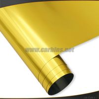 High Quality Gold Stretch Chrome PVC Vinyl Car Wrap 1.52*20m